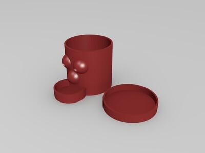 笔筒 储物盒-3d打印模型