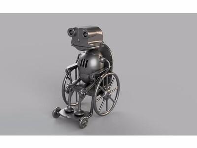 机械迷城 轮椅 机器人-3d打印模型