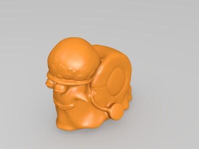 特拉法尔加罗的电话虫-3d打印模型