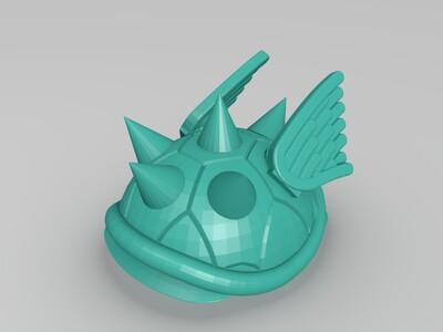 飞龟壳-3d打印模型