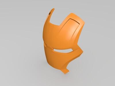 钢铁侠面具头盔-3d打印模型