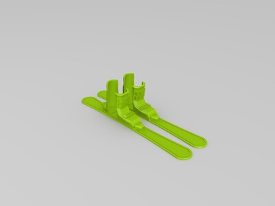 圣诞手机滑雪板-3d打印模型