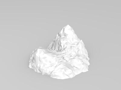 小型压缩泰坦尼克和冰山的规模例子-3d打印模型