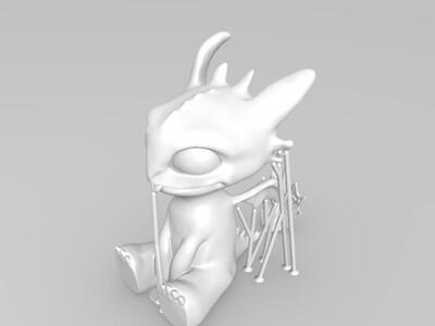 无牙-3d打印模型
