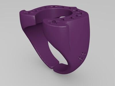 anderson五角星星戒指U型马蹄戒指-3d打印模型