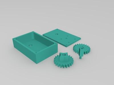 齿轮组 箱-3d打印模型