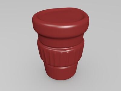 咖啡因成瘾动物的生物-3d打印模型