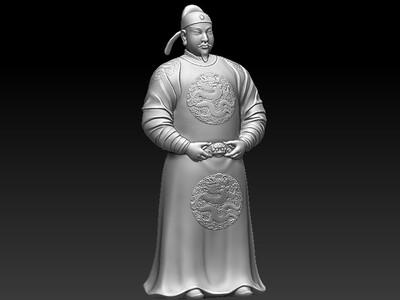 唐太宗-李世民-3d打印模型