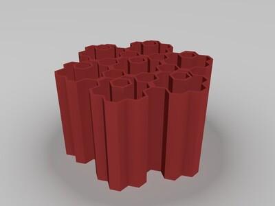 蜂巢笔盒-3d打印模型