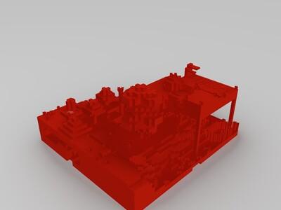 我的世界建筑物-3d打印模型