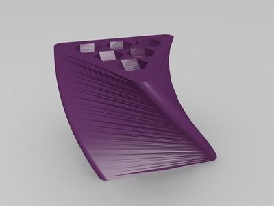 六孔笔筒-3d打印模型