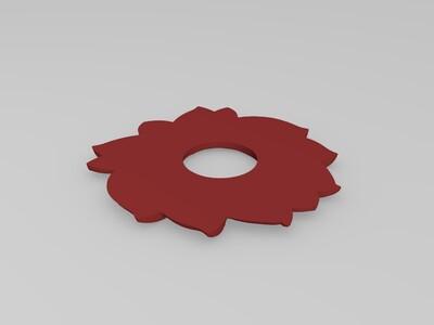 装饰莲花-3d打印模型