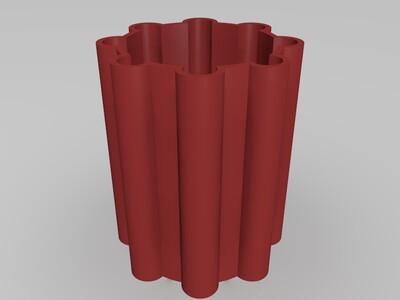八股笔筒-3d打印模型