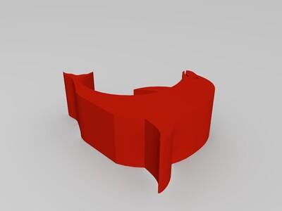 海豚手机支架-3d打印模型