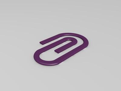 回形针-3d打印模型