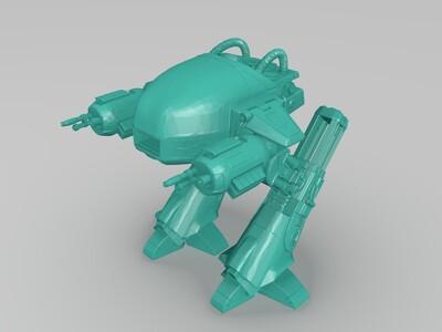 机械战警ED-209机器人-3d打印模型