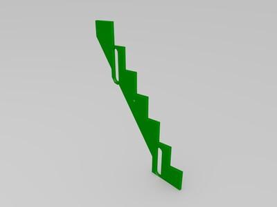 9AC【折腾】系列9mm滚珠轨道 爬楼梯 楼梯板1-3d打印模型
