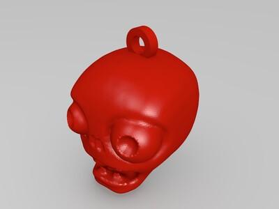 植物大战僵尸僵尸挂件-3d打印模型