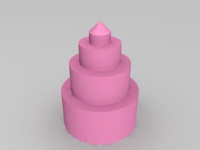空心圆塔-3d打印模型