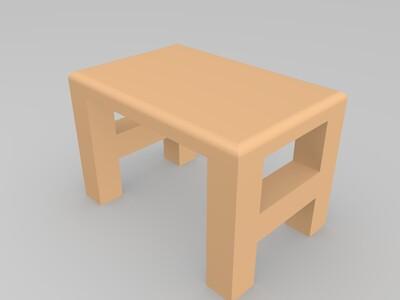 小板凳-3d打印模型
