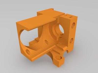 UM2 Ultimaker2十字滑块打印喷头-3d打印模型