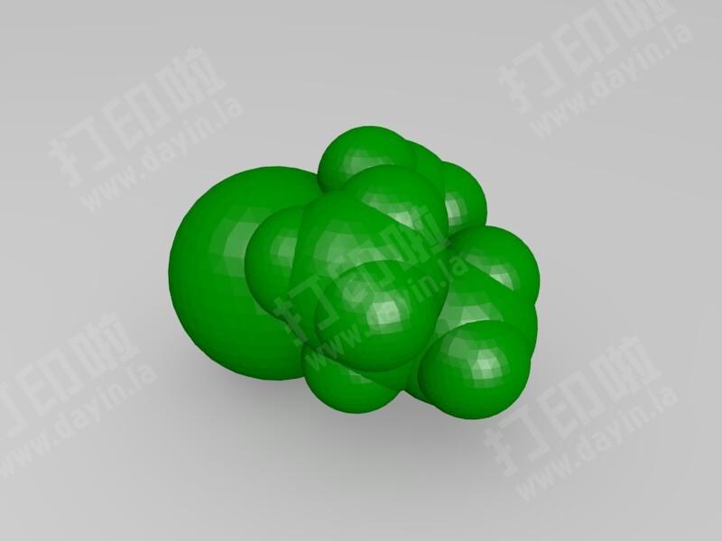 2-溴-3-甲基丁烷-3d打印模型