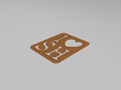 爱上海-3d打印模型