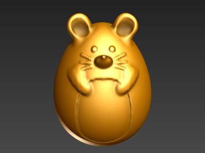 3D蛋系列(十二生肖-鼠)-3d打印模型