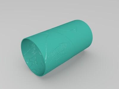 7号浮雕灯-3d打印模型