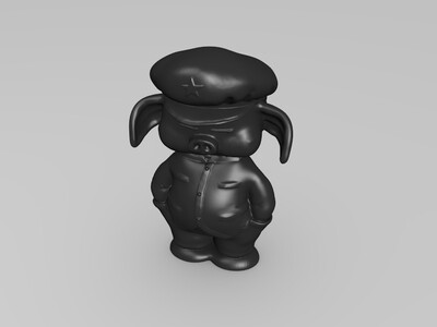 七龙珠-Q版乌龙-手办-3d打印模型