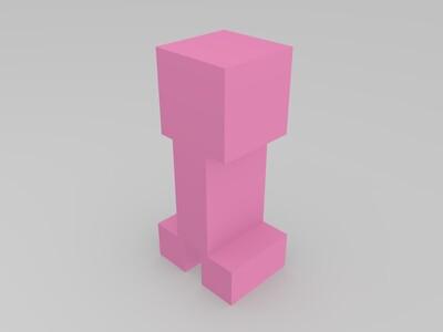 苦力怕-3d打印模型