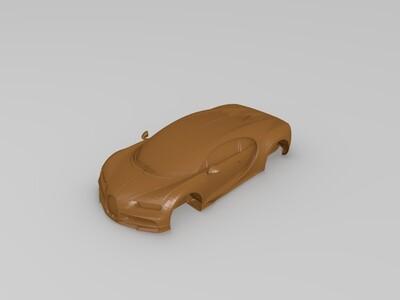 布加迪跑车-3d打印模型
