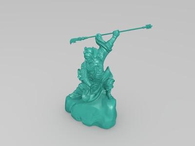 关公 青龙偃月刀-3d打印模型