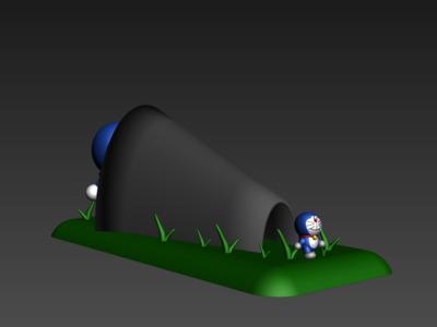 机器猫-多啦A梦(缩小)-3d打印模型