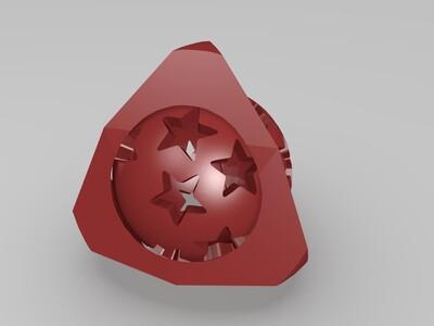 旋转星球-3d打印模型