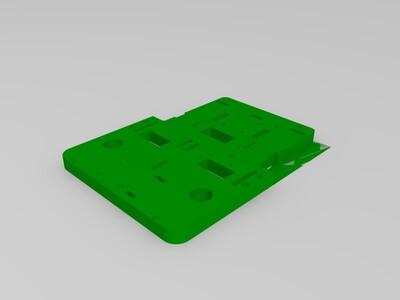 智能车底盘-3d打印模型