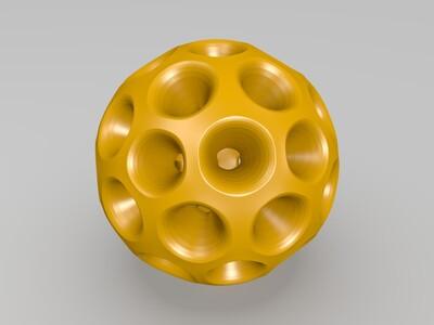 介孔球-3d打印模型