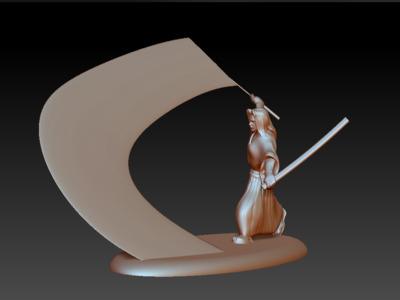 王者荣耀-橘右京-3d打印模型