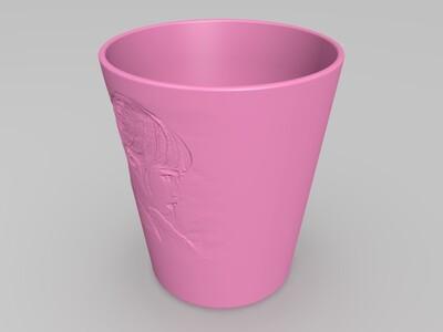 美女杯身雕刻-3d打印模型