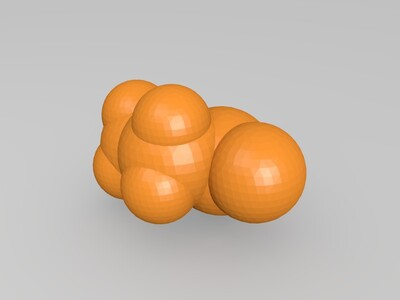 3,3-二甲基-2-己酮-3d打印模型