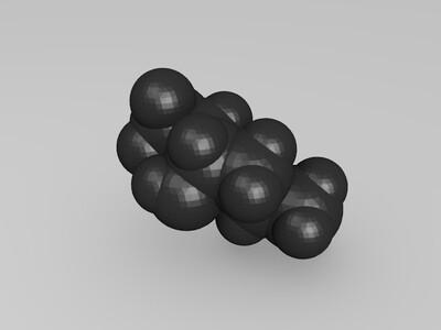 1,1,1-三氟己-3-醇 - 苯-3d打印模型