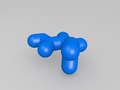 马来酸-3d打印模型