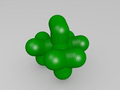 叔丁醇-3d打印模型