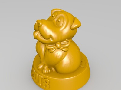 0218DOG-3d打印模型