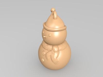 圣诞节-雪人-3d打印模型