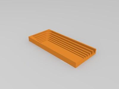 六角扳手(1.5/2/2.5/3/4/5mm)盒子-3d打印模型