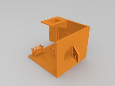 婴儿房-3d打印模型