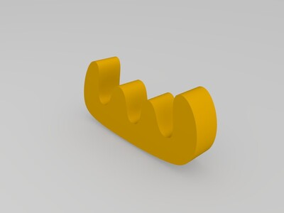 小鹿手机支架-3d打印模型