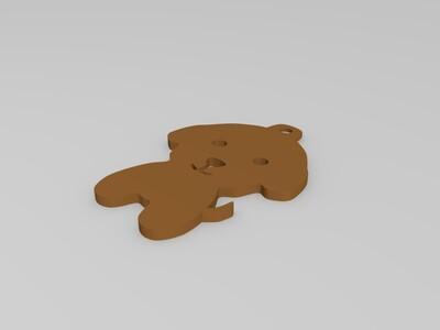 小狗钥匙吊坠-3d打印模型