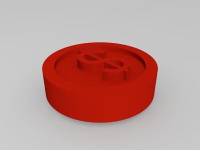 硬币-3d打印模型